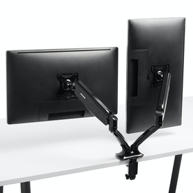 Black Dual LCD Monitor Arm,,hi-res