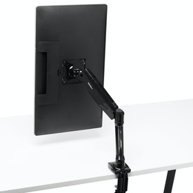 Black Single LCD Monitor Arm,,hi-res