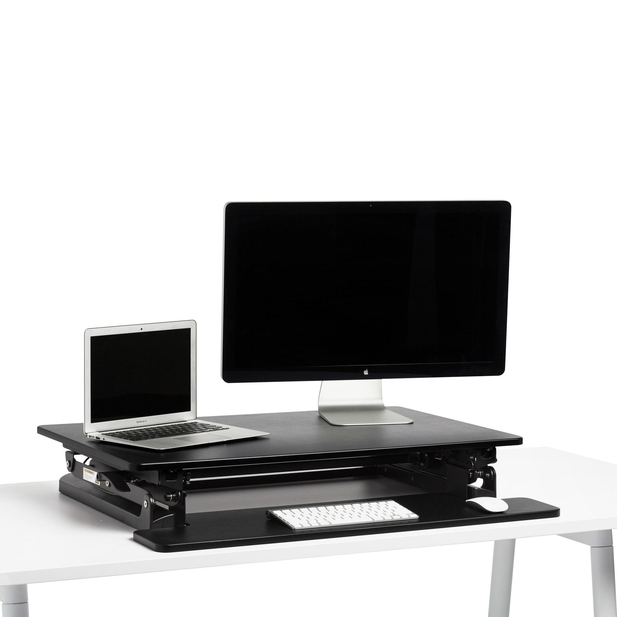 Black Medium Peak Adjustable Height Standing Desk Riser,Black,hi Res ...