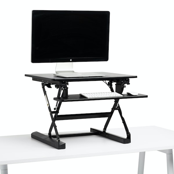 Black Small Peak Adjustable Height Standing Desk Riser,Black,hi-res