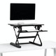 Black Small Peak Adjustable Height Standing Desk Riser,Black,hi-res