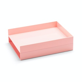 Blush Letter Trays, Set of 2,Blush,hi-res