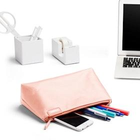 Blush + Light Gray Medium Accessory Pouch
