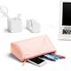 Blush + Light Gray Medium Accessory Pouch,Blush,hi-res