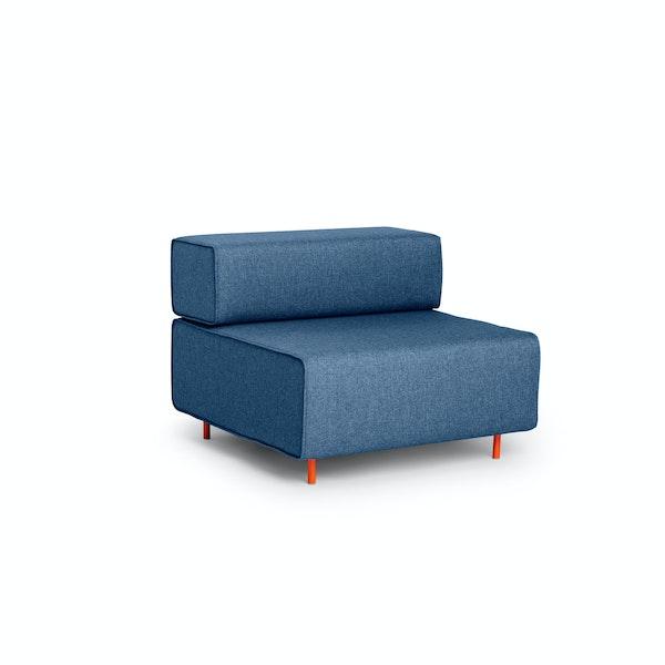Dark Blue Block Party Lounge Chair,Dark Blue,hi-res