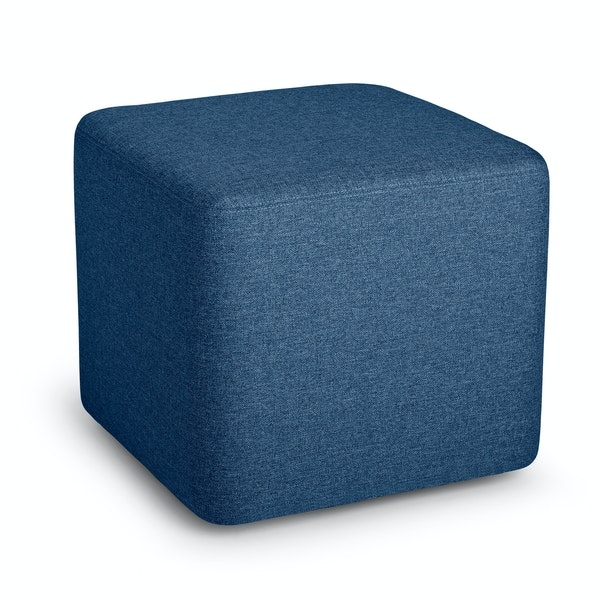 Dark Blue Block Party Lounge Ottoman,Dark Blue,hi-res