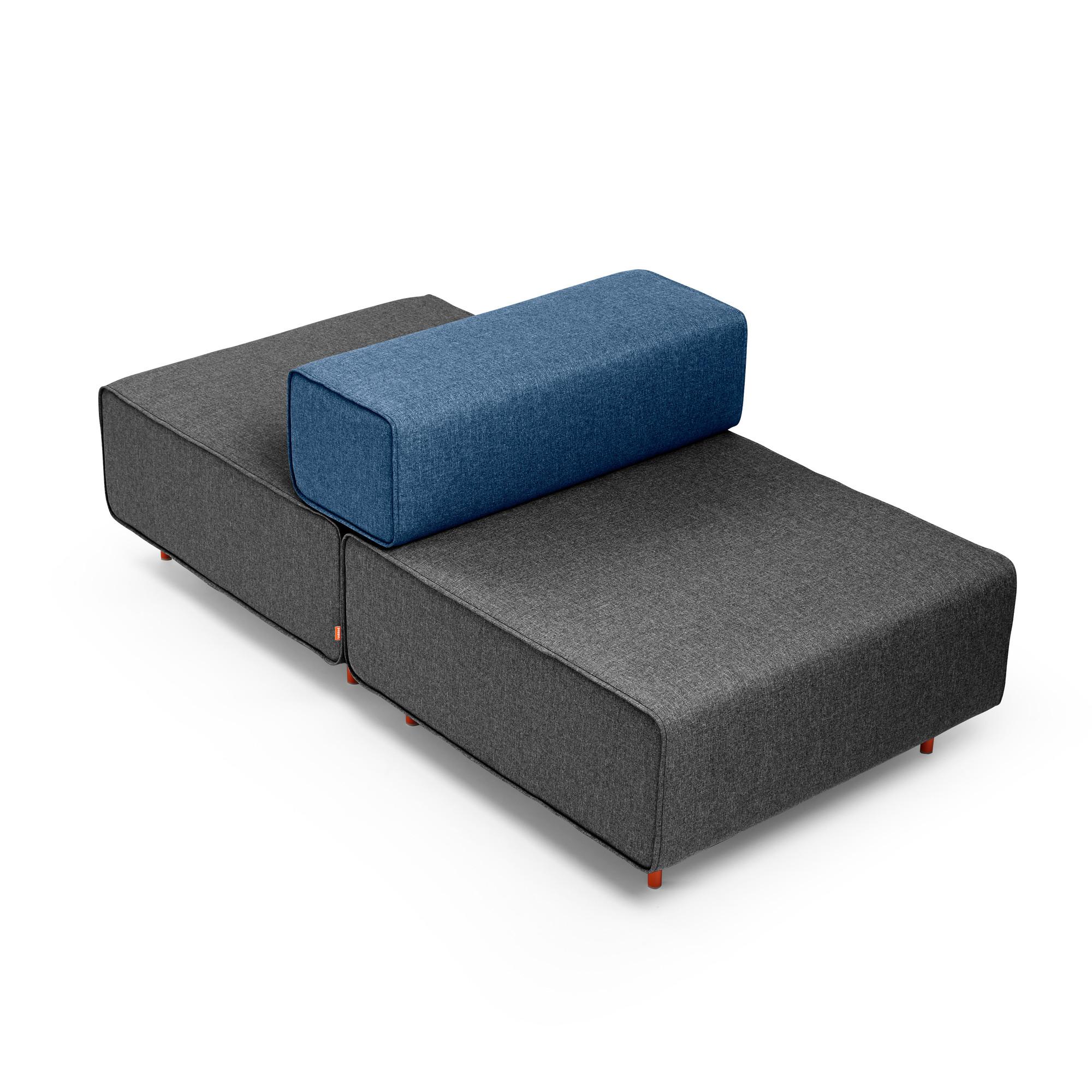 Dark Gray + Dark Blue Block Party Lounge Back It Up Chair,Dark Gray,