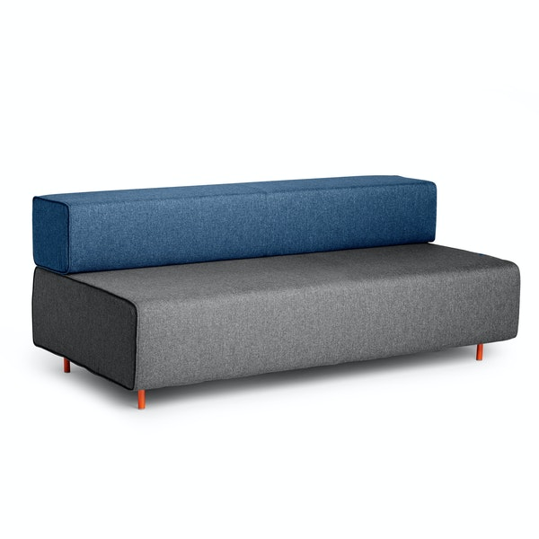Dark Gray + Dark Blue Block Party Lounge Sofa,Dark Gray,hi-res
