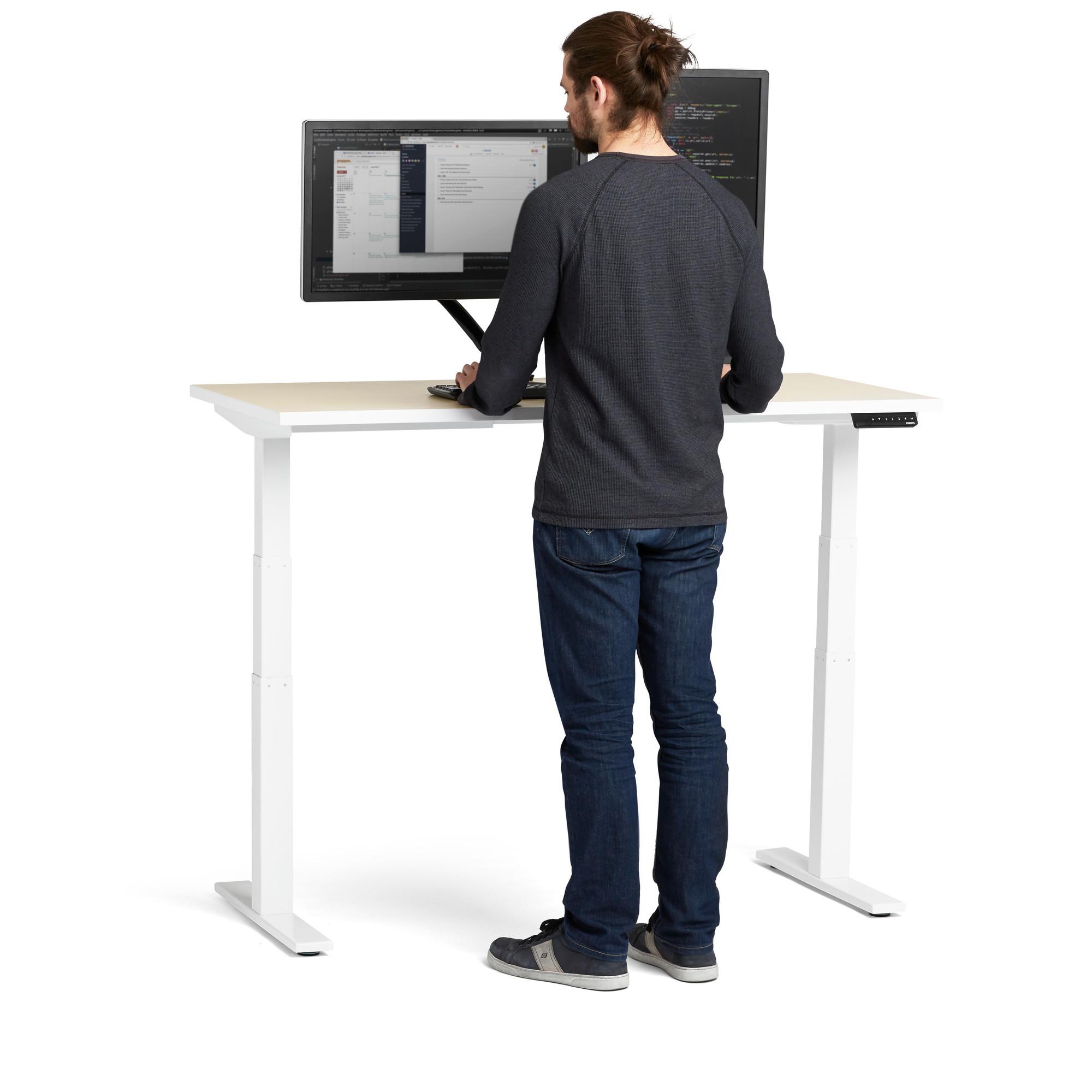 Images. Loft Adjustable Height Standing Single Desk ...