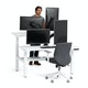 """Loft Adjustable Height Standing Double Desk for 2, White, 57"""", White Legs,White,hi-res"""