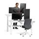 "Loft Double Desk for 2, White, 57"", White Legs,White,hi-res"