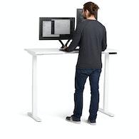 """Loft Adjustable Height Standing Single Desk, White, 57"""",White,hi-res"""
