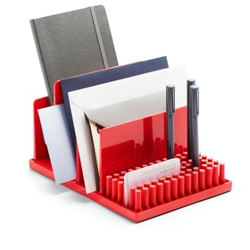 Red Home Base Desk Set,Red,hi-res