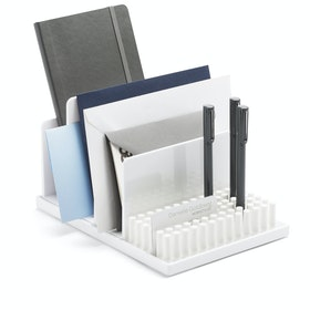 White Home Base Desk Set,White,hi-res