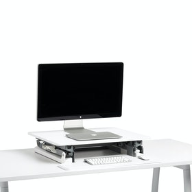 White Small Peak Adjustable Height Standing Desk Riser,White,hi-res