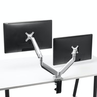 Silver Dual Heavy-Duty LCD Monitor Arm,,hi-res