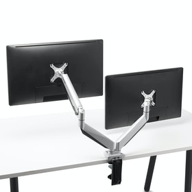 Silver Dual Heavy-Duty LCD Monitor Mount,,hi-res