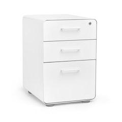white stow 3 drawer file cabinetwhitehi res - Modern Furniture White