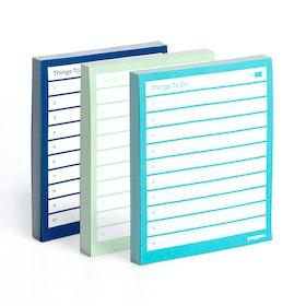 Assorted Task Pads, Set of 3, Aqua/Mint/Navy,,hi-res