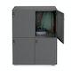 Charcoal Stash 4-Door Locker,Charcoal,hi-res