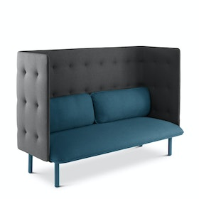 Dark Blue + Dark Gray QT Lounge Sofa,Dark Blue,hi-res