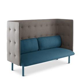 Dark Blue + Gray QT Lounge Sofa,Dark Blue,hi-res
