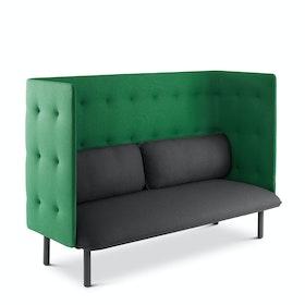 Dark Gray + Leaf Green QT Lounge Sofa,Dark Gray,hi-res