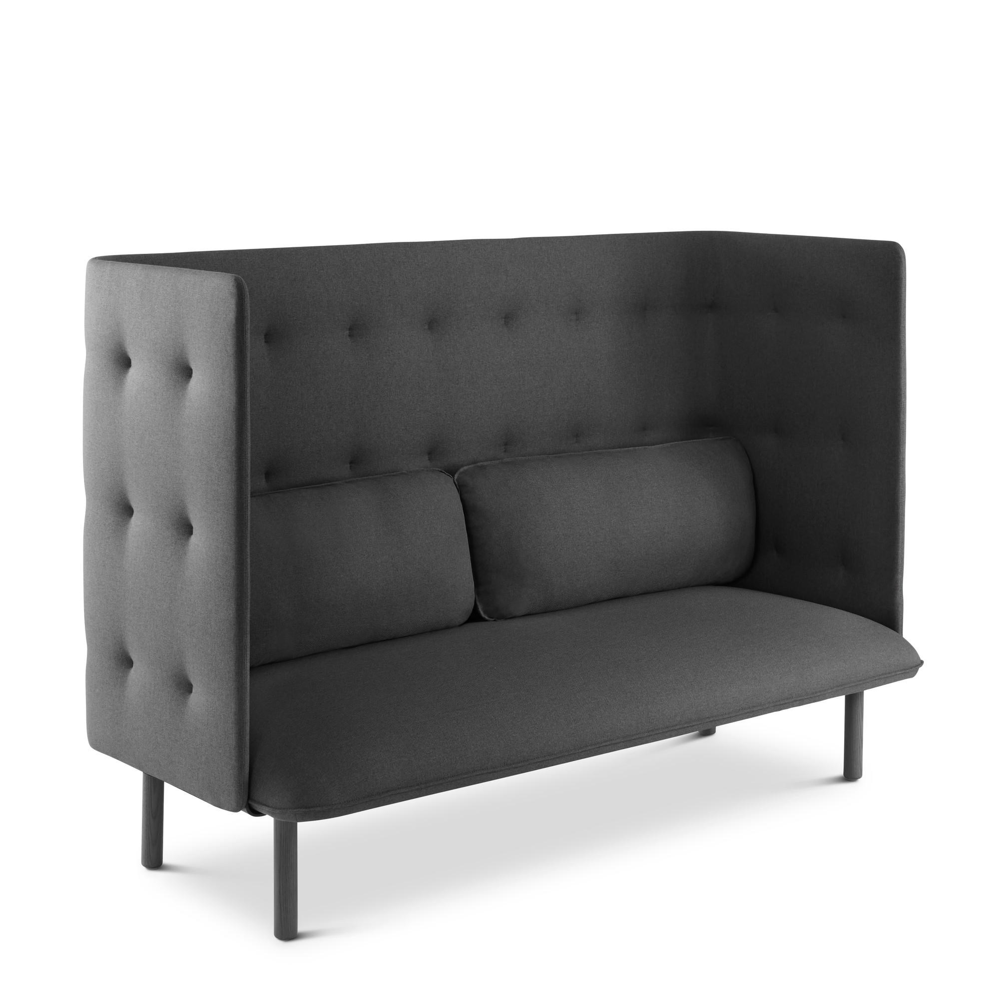 Dark gray qt lounge sofa