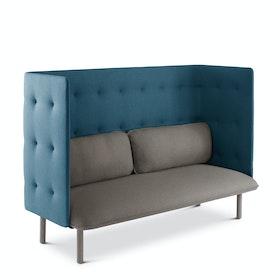 Gray + Dark Blue QT Lounge Sofa,Gray,hi-res