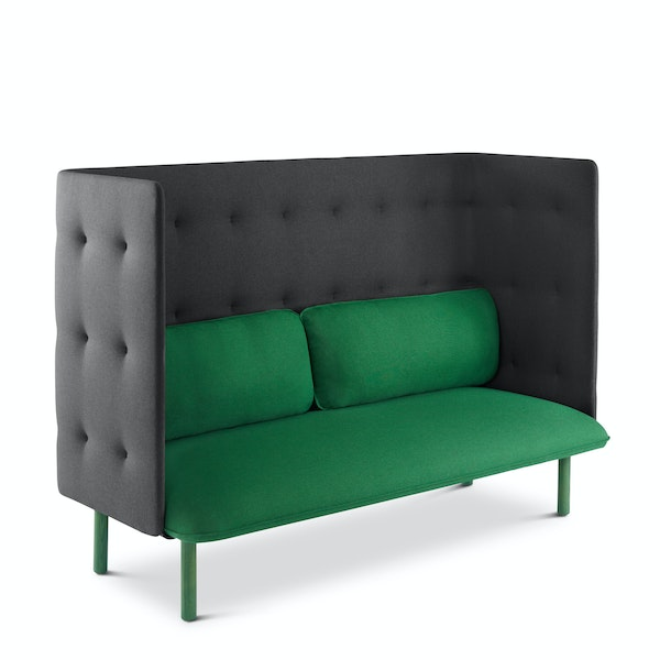 Leaf Green + Dark Gray QT Lounge Sofa,Leaf Green,hi-res