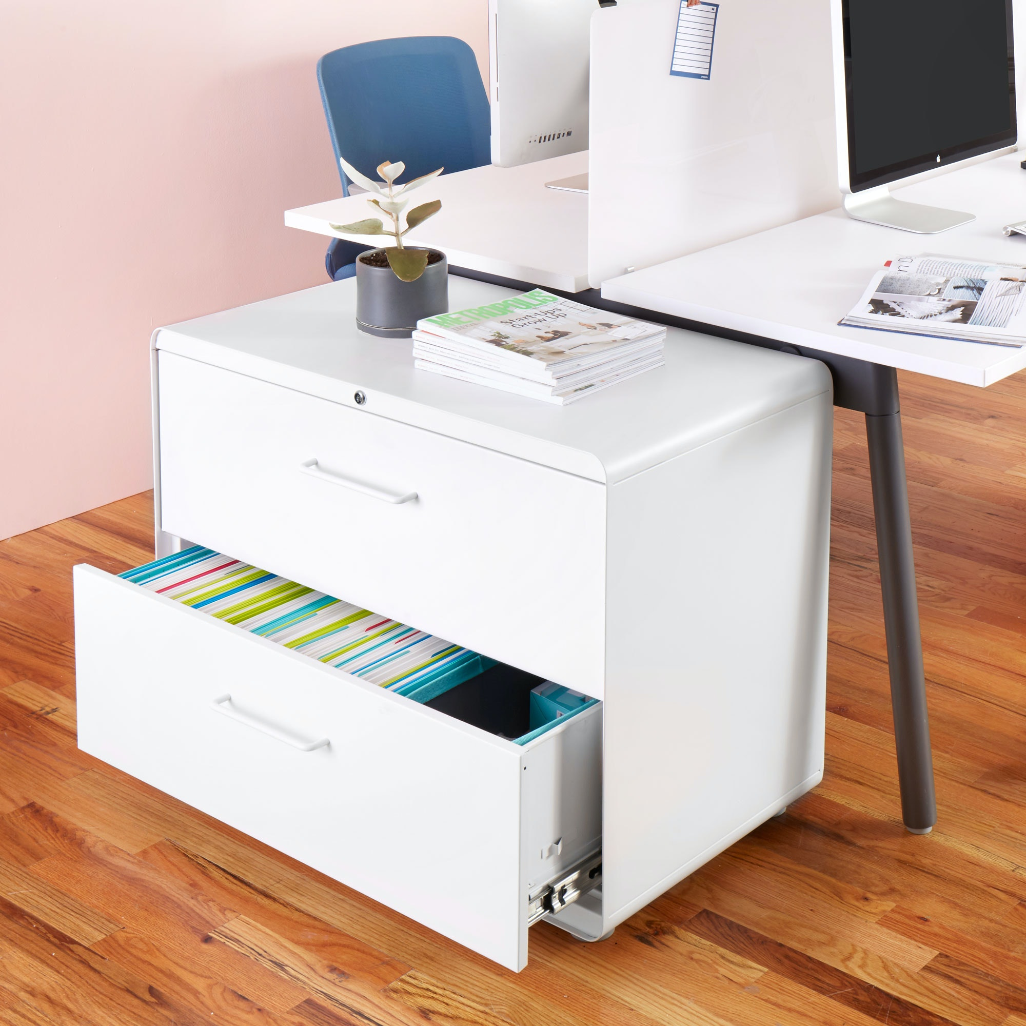 White Stow 2 Drawer Lateral File Cabinet,White,hi Res ...