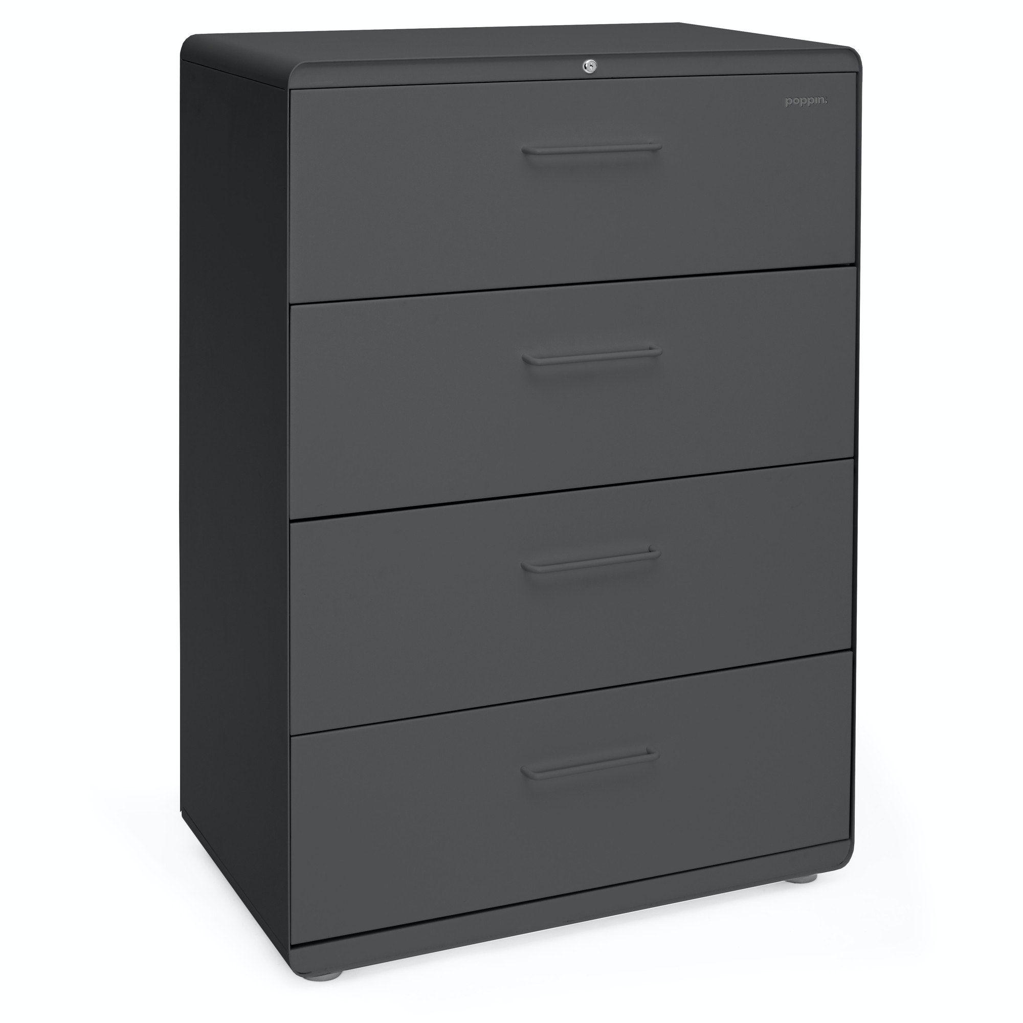... Charcoal Stow 4 Drawer Lateral File Cabinet,Charcoal,hi Res