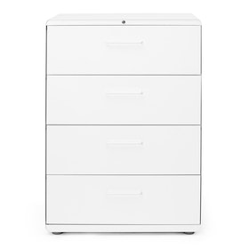 White Stow 4 Drawer Lateral File Cabinet Hi Res