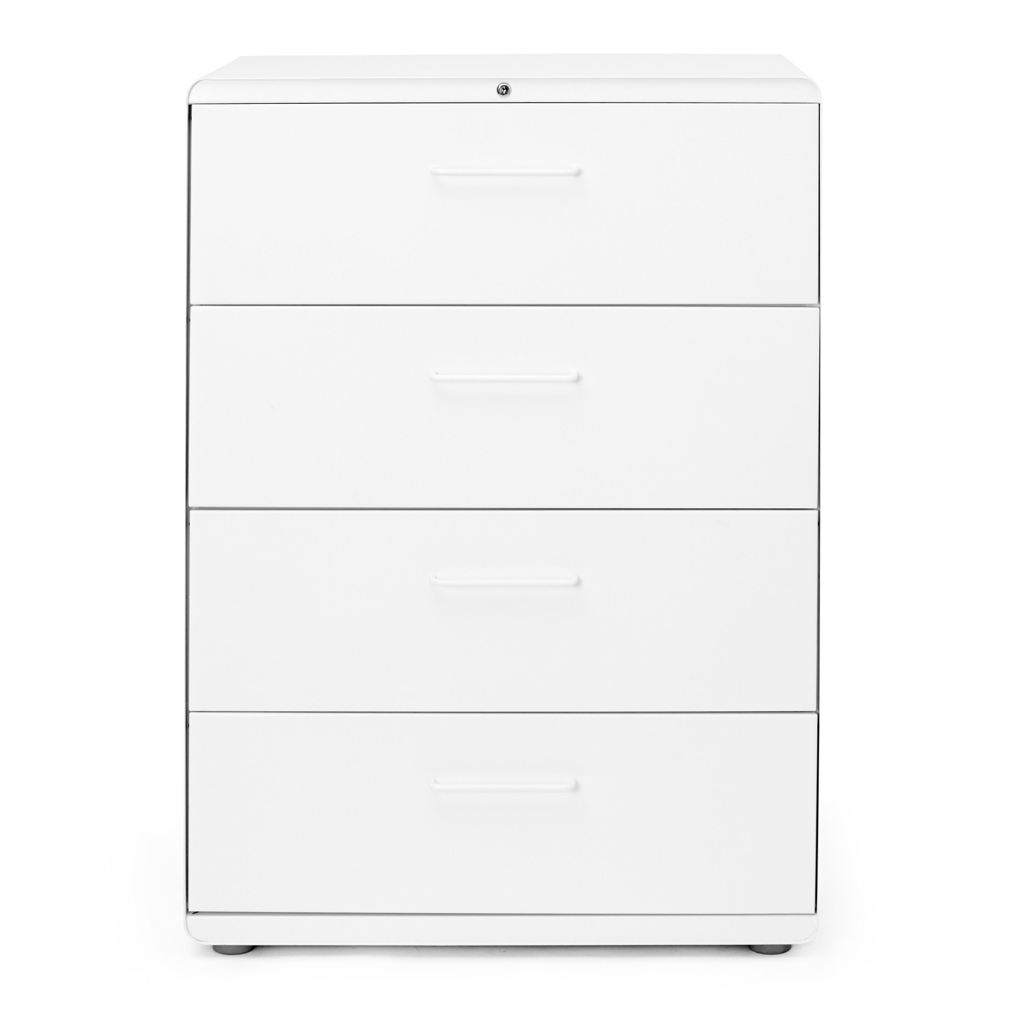 White Stow 4 Drawer Lateral File Cabinet,White,hi Res ...