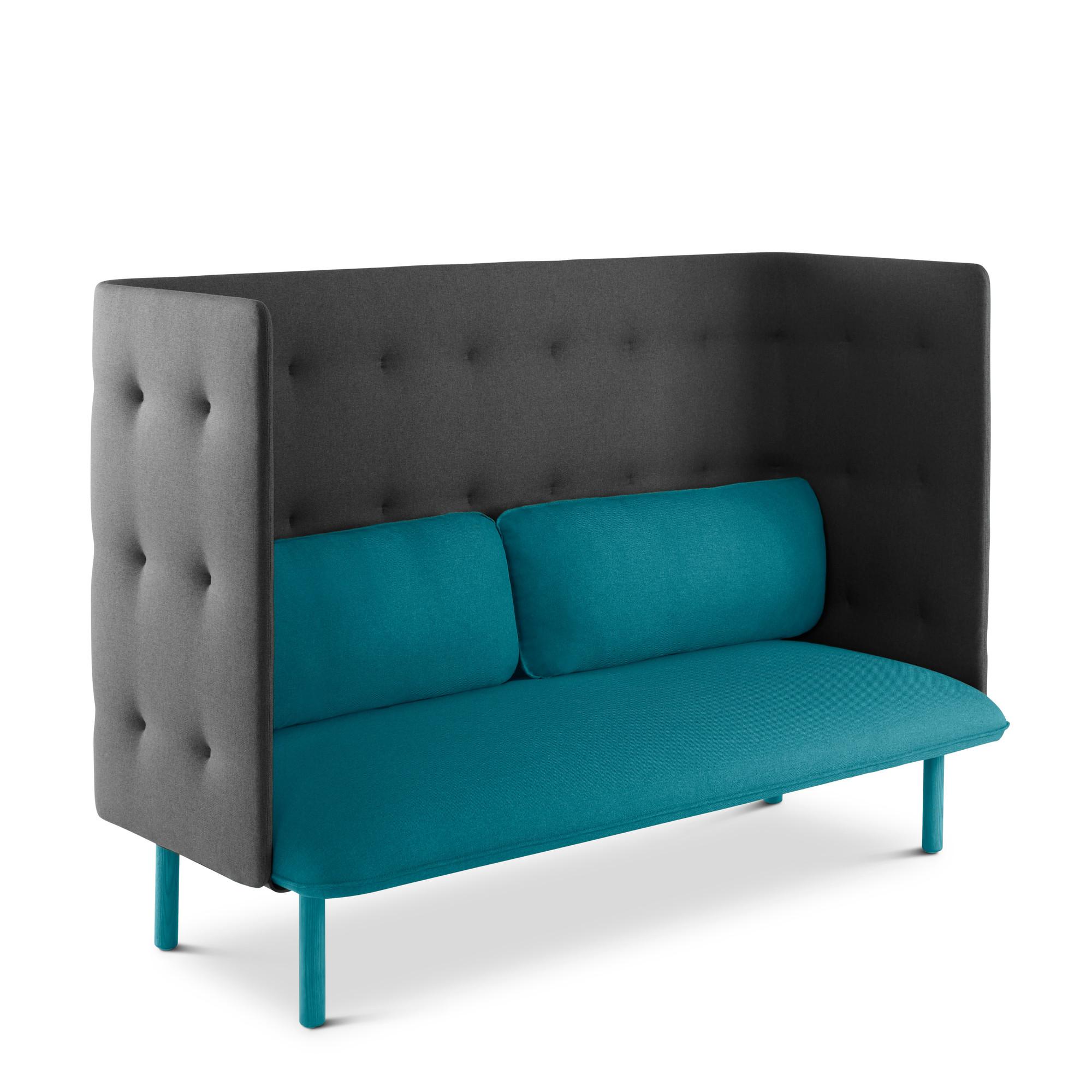 Teal Dark Gray Qt Lounge Sofa Hi Res
