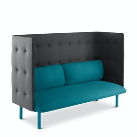 Teal + Dark Gray QT Lounge Sofa,Teal,hi-res