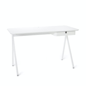 White Key Desk,White,hi-res