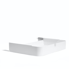White Key Desk Add-On Drawer,White,hi-res