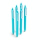 Aqua Retractable Gel Luxe Pens w/ Blue Ink, Set of 6,Aqua,hi-res