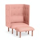 Blush QT Privacy Lounge Chair,Blush,hi-res