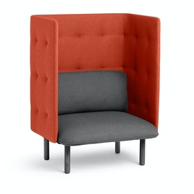 Dark Gray + Brick QT Privacy Lounge Chair,Dark Gray,hi-res