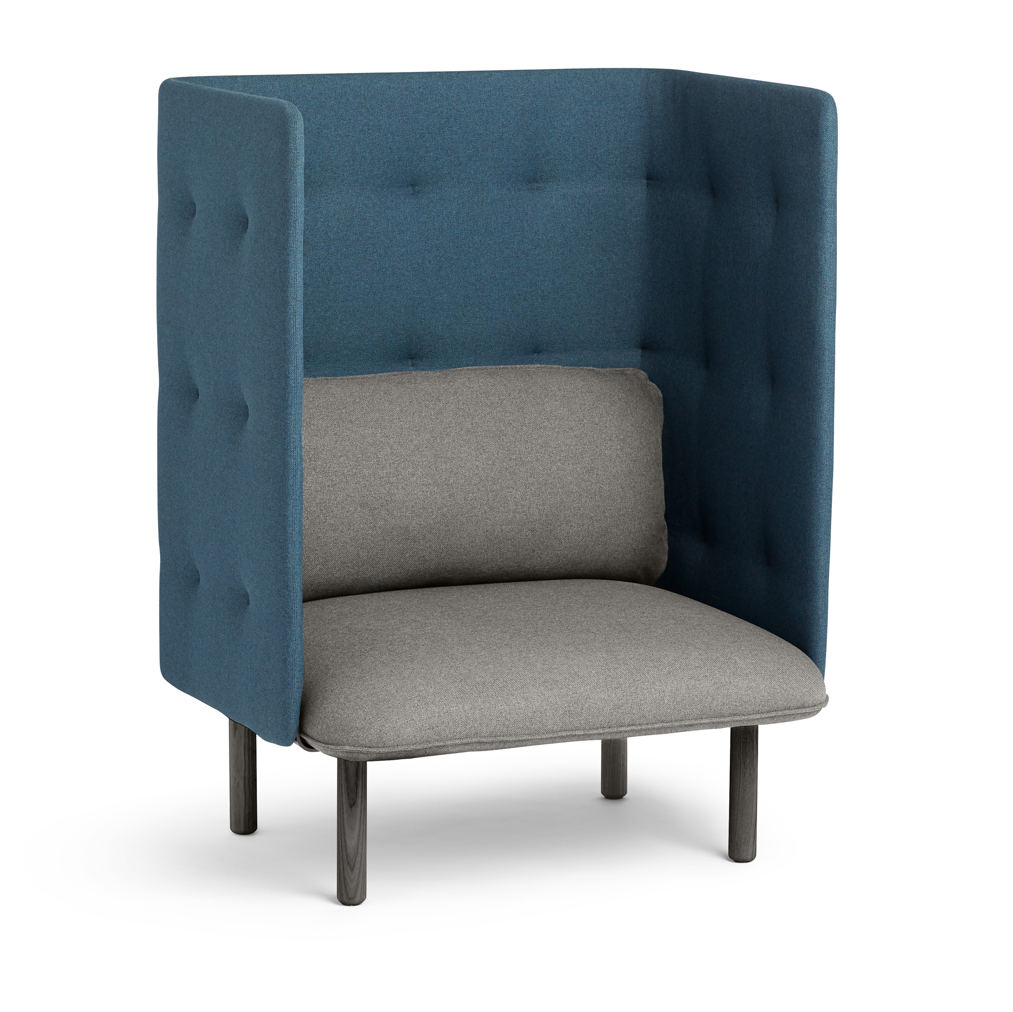 Gray + Dark Blue QT Lounge Chair,Gray,hi Res. Loading Zoom
