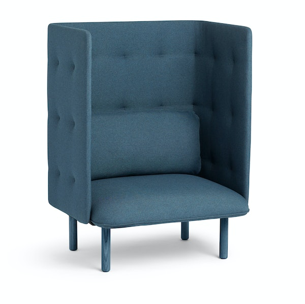Dark Blue QT Privacy Lounge Chair,Dark Blue,hi-res
