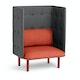 Brick + Dark Gray QT Privacy Lounge Chair,Brick,hi-res
