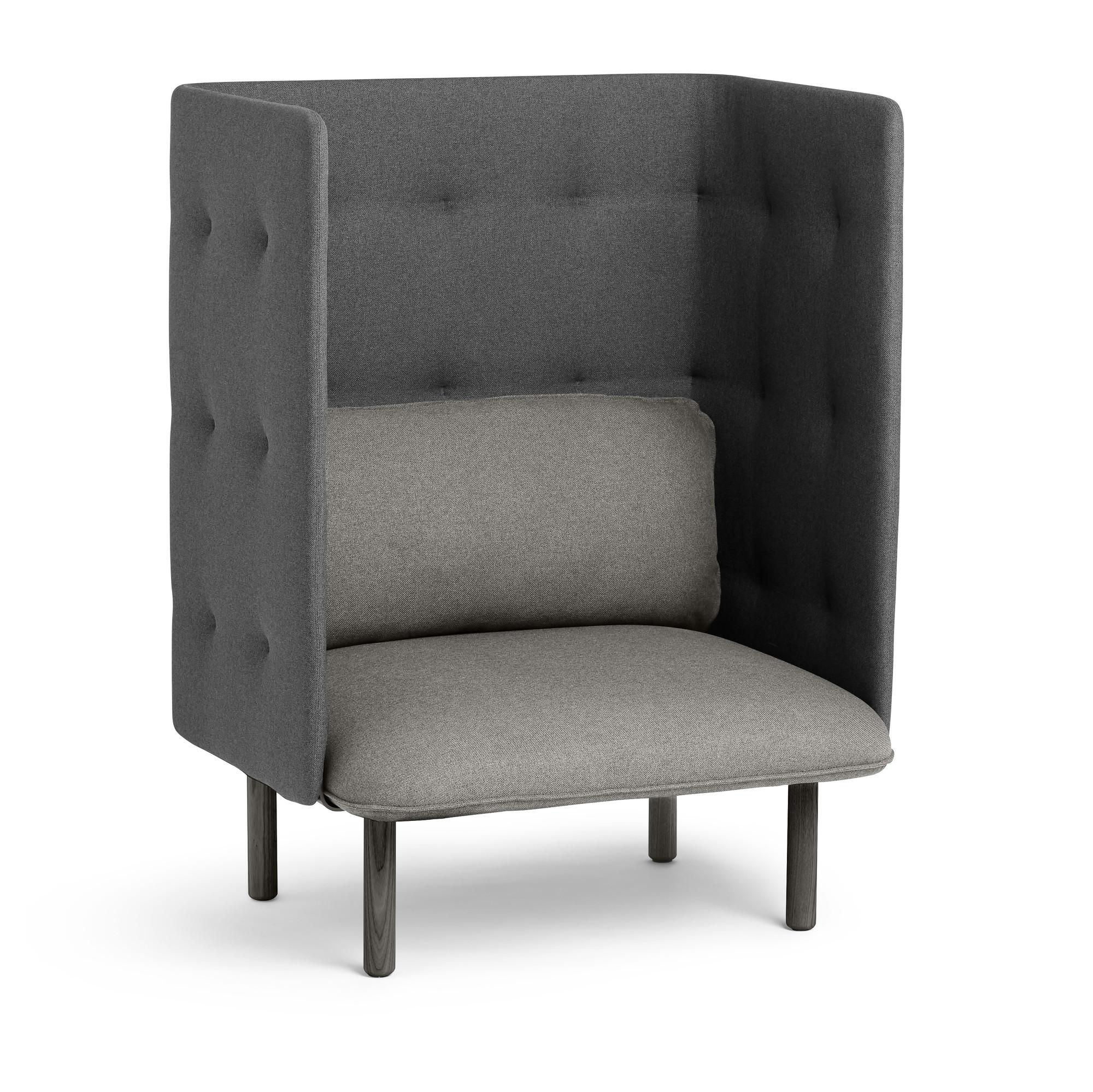 Gray Dark Gray QT Privacy Lounge Chair