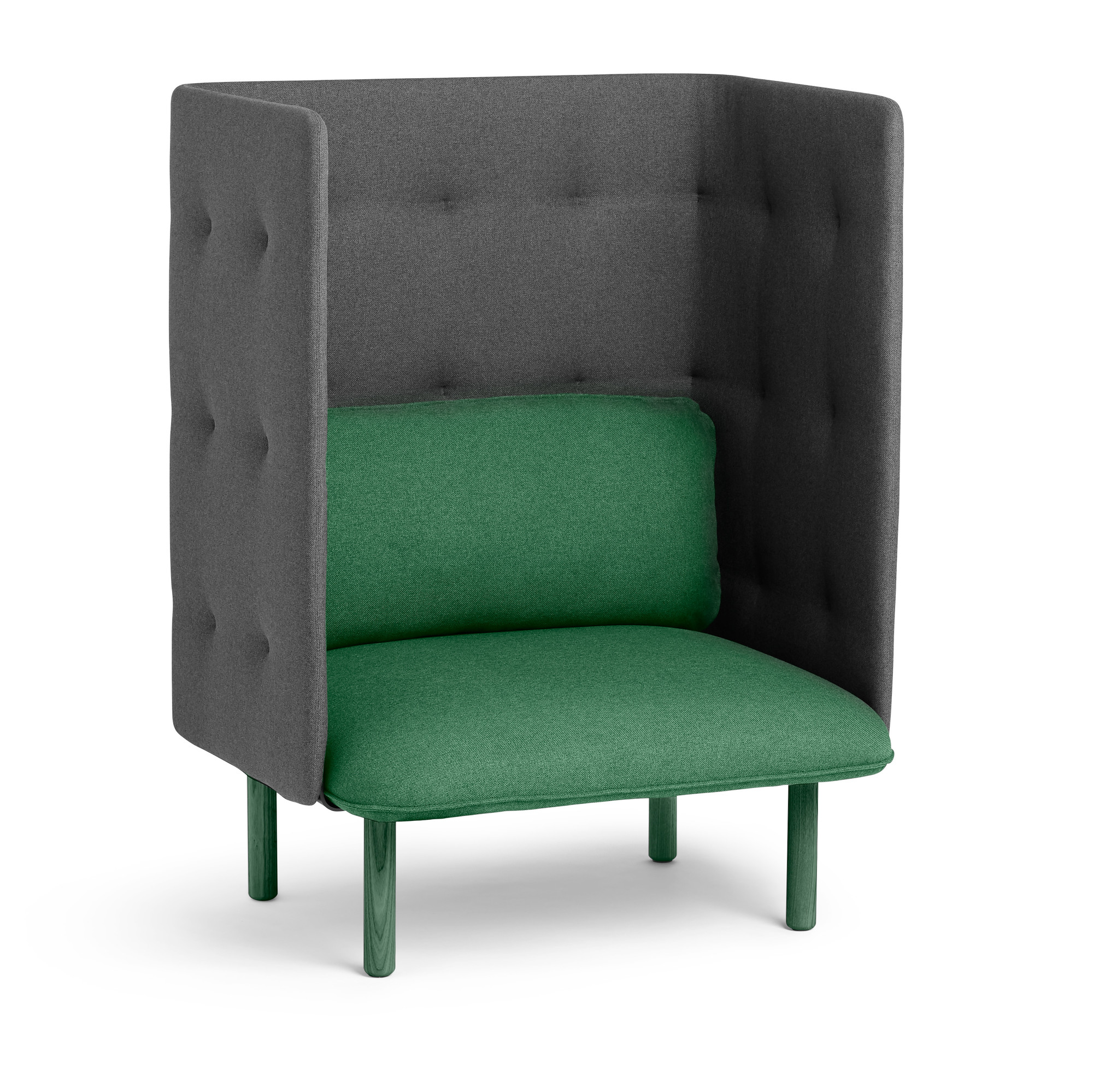 Leaf Green Dark Gray QT Privacy Lounge Chair