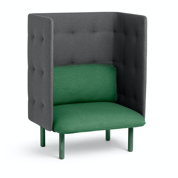 Leaf Green + Dark Gray QT Privacy Lounge Chair,Leaf Green,hi-res