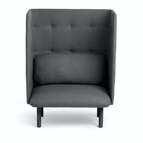 Gray + Dark Gray QT Privacy Lounge Chair,Gray,hi-res