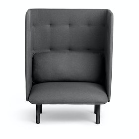 Teal + Dark Gray QT Privacy Lounge Chair,Teal,hi-res