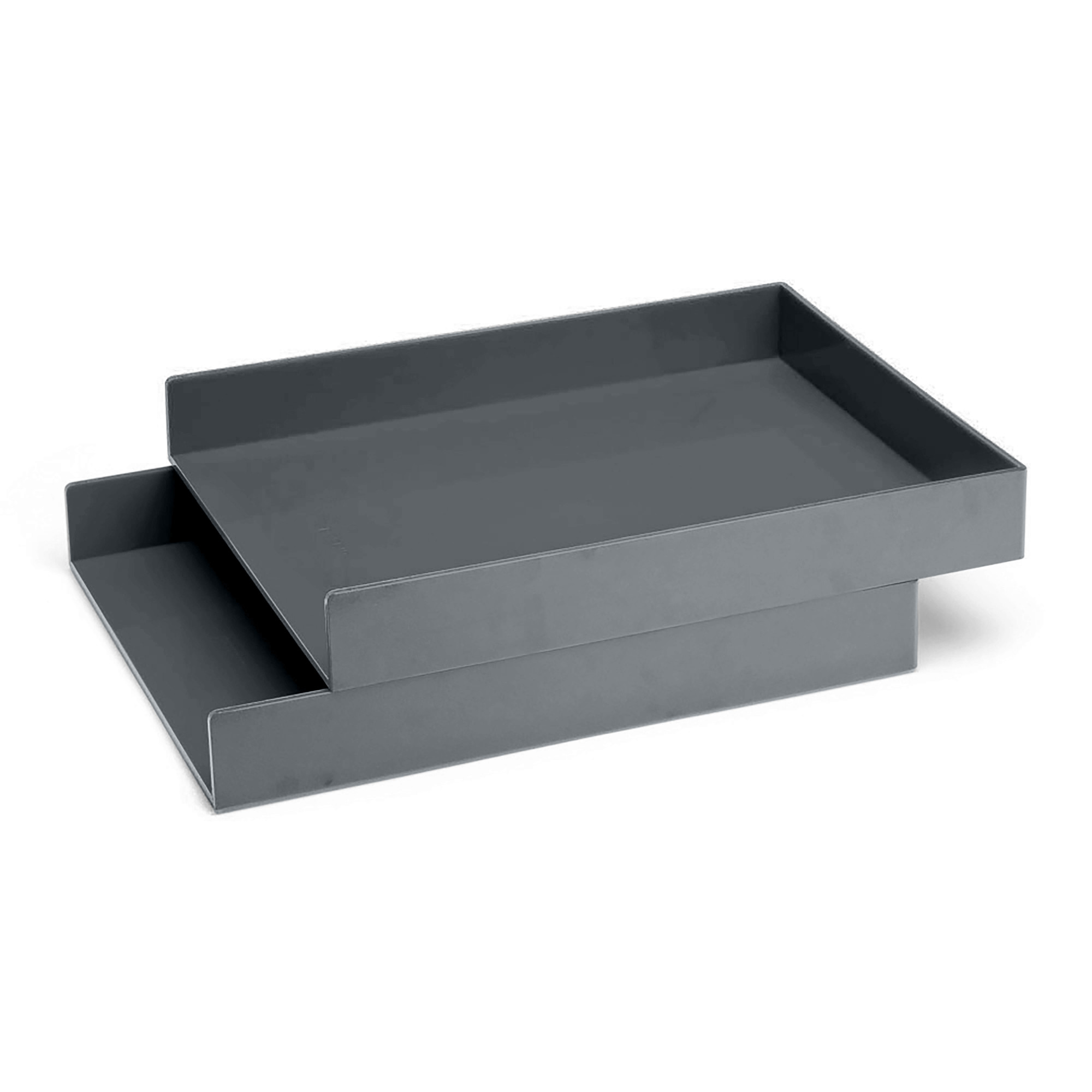 Dark Gray Letter Trays Set Of 2 Hi Res Loading Zoom